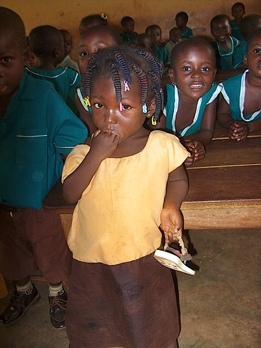 Kindergarten children at St Peter's Primary and Junior High School, Wioso, Ghana