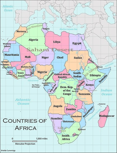 Clear Africa Map | Map Of Africa