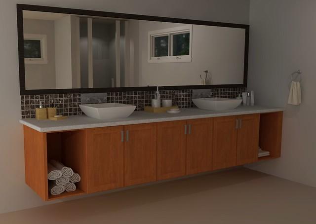 Ikea Custom Bathroom Vanity Flickr Photo Sharing