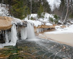 Elliot Falls , Winter at Pictured Rocks National Lakeshore by Michigan Nut