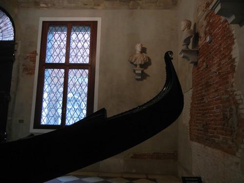 DSCN2998 _ Gondola in the lobby of Ca' Rezzonico, Venezia, 15 October