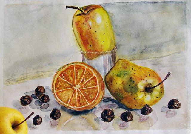 Фундук и фрукты 11.12.12