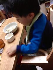 朝御飯とらちゃん 2012/12/12