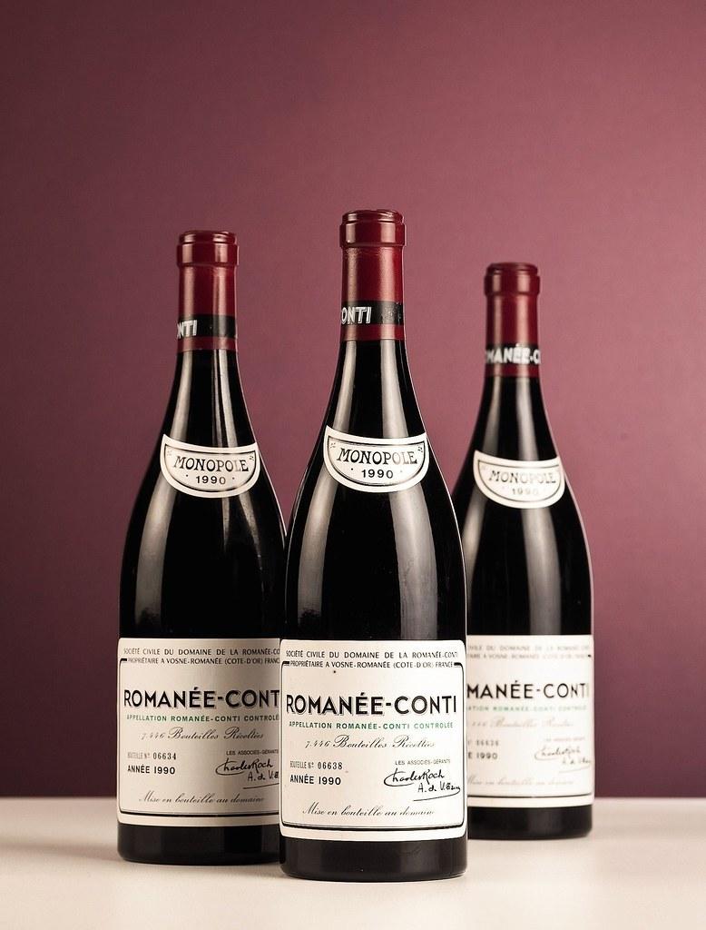 3 bottles Domaine de la Romanée Conti Romanée Conti.jpg