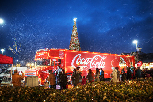 Coca Cola Truck at Cheshire Oaks