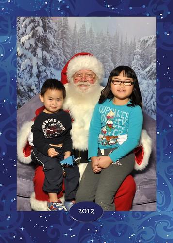 2012 visit with Santa