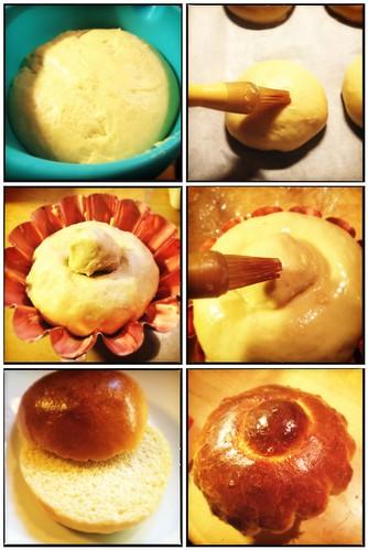 Luxe boterige ontbijt of brunch broodjes