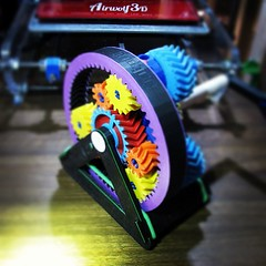Colorful Gear Set Made with 3D Printer