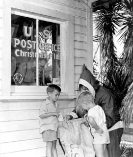 Stanley and Lewis Yates mail letters to Santa: Christmas, Florida