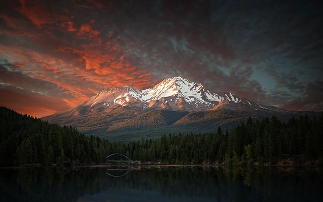 Mt. Shasta Sunset - Explored