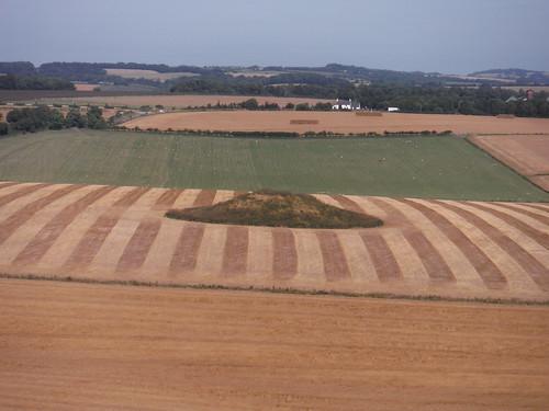 Barrow in Field, from Maiden Castle