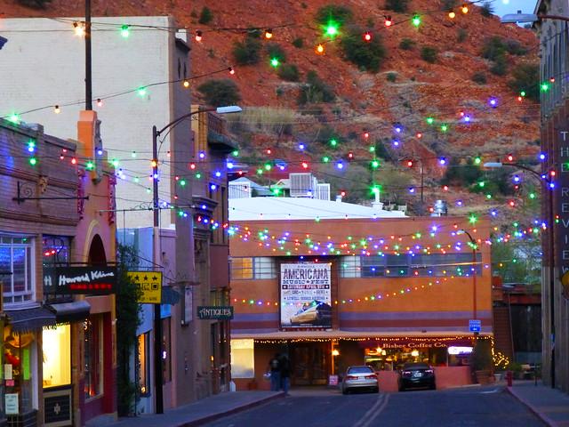 Bisbee, AZ at night, Panasonic DMC-ZS19