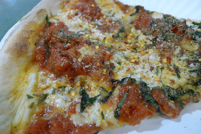 mozzarella, basil, tomato