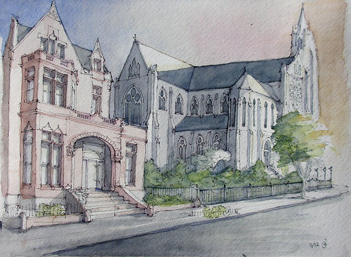 St Francis Xavier Church and Rectory by James Anzalone