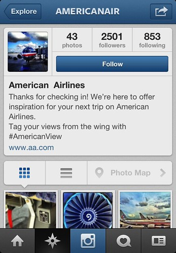 Real American Airlines Instagram