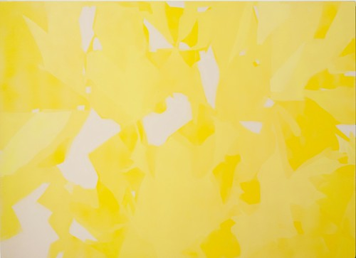 Give Art Space, Jeremy Sharma, Scintilla (Summerwell), 2010-12, Aerosol paint on powder coated aluminium, 64x88cm