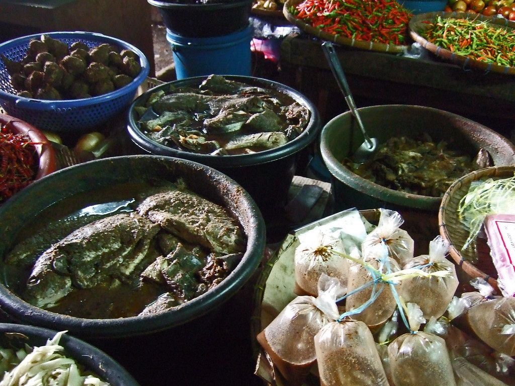 Padek in many stages of fermentation - Phousy Market , Luang Prabang