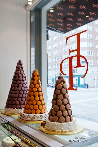 Macaron towers by the window