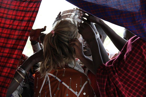 8176386578 80d39b9bb5 Guests Renew Vows in a Traditional Maasai Wedding Ceremony