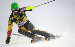 Mike Janyk during World Cup slalom in Levi, Finland.