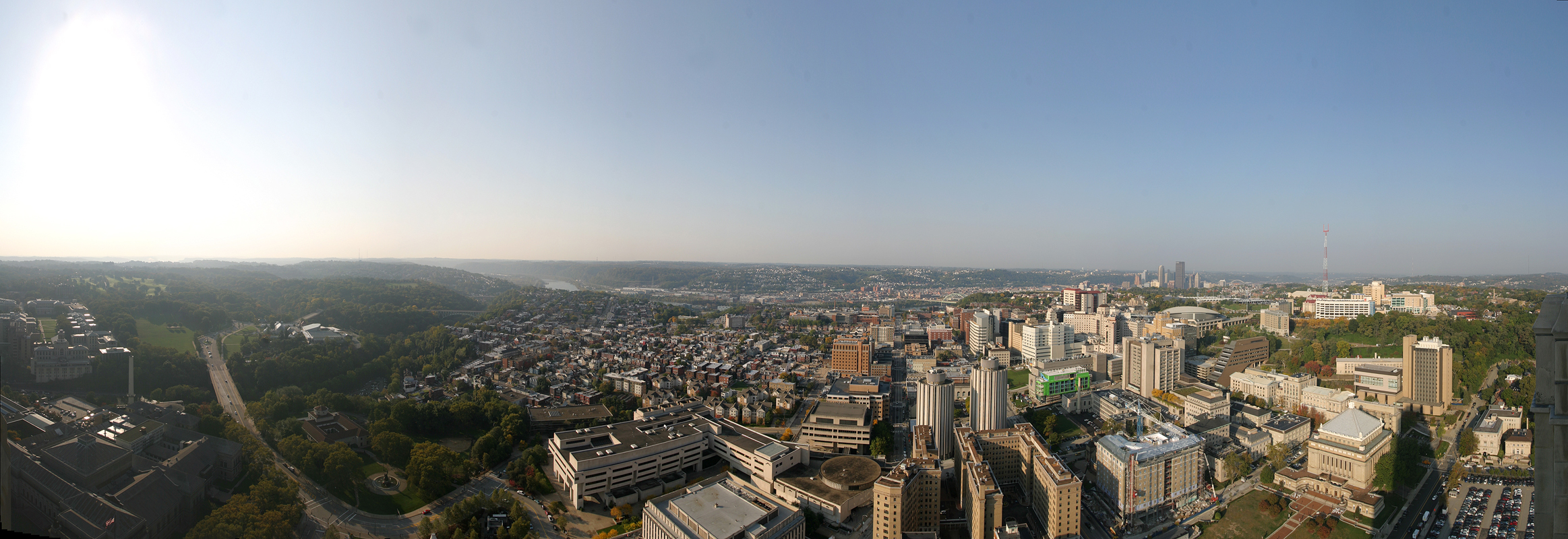 South and West View from Pitt\'s Cathedral of Learning