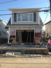 House damaged by Sandy in the Rockaways
