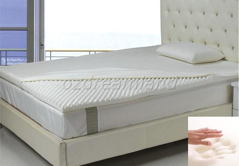 Visco Elastic Memory Foam Mattress Topper Underlay Egg Crate 5cm Spine Care