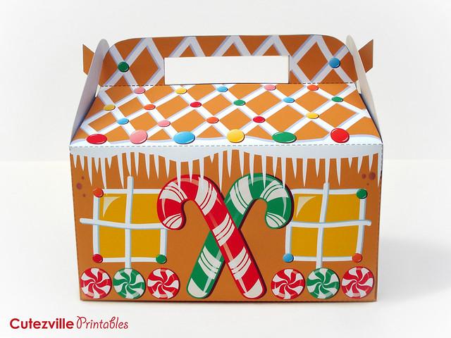 Printable PDF Christmas Gingerbread House Gift Box With Editable Text ...