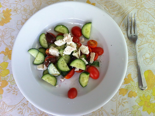 simple greek salad (for lunch)