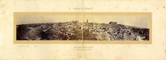 Vista panorámica de Toledo hacia 1865. Fotografía de Jean Laurent incluida en un álbum sobre Toledo © Archivo Municipal. Ayuntamiento de Toledo