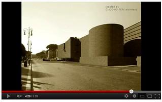 """ROMA DI MUSSOLINI, VIA DELL' IMPERO E PALAZZO LITTORIO: Arch. Giacomo Feri, """"Il Grande Muro Sospeso (video tesi di laurea in architettura),"""" 2008-09 [2011]. VIDEO 05:28."""