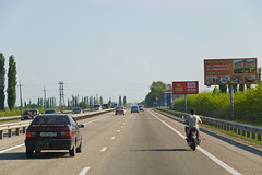 Sur la route (M4) de Rostov on Don à Krasnodar