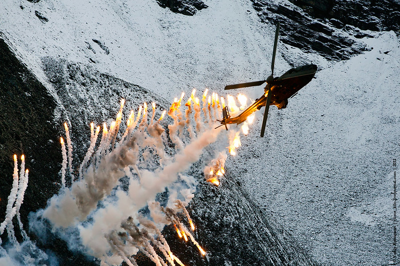 Helicopter fireworks