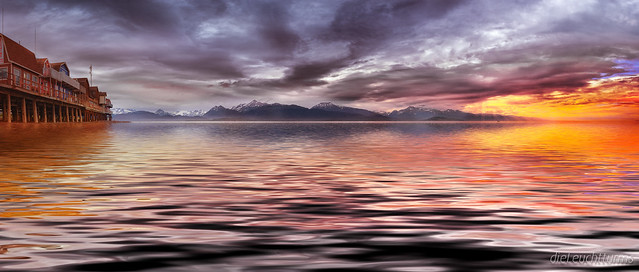 Mystic dusk above Kachemak Bay