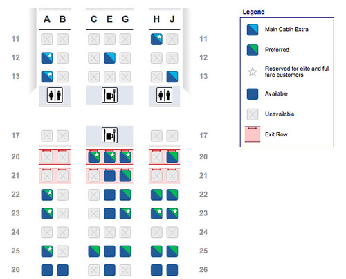 American Airlines Boeing 767-300 Seat Map