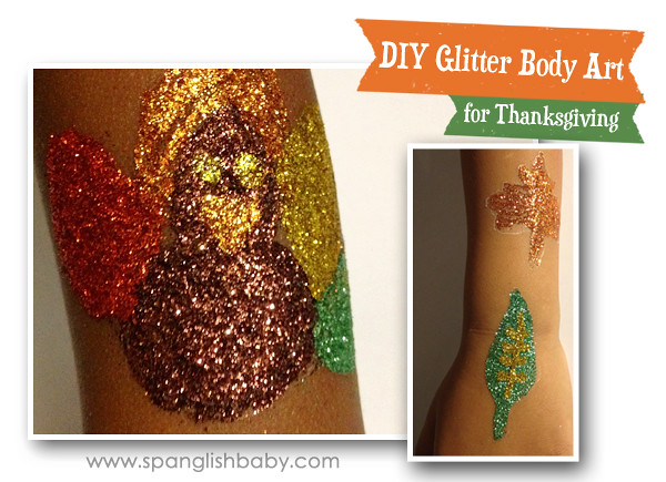 DIY Glitter body art for kids