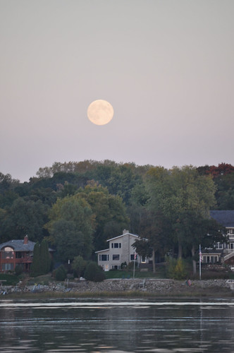 Full Moon Rising over White Bear Lake