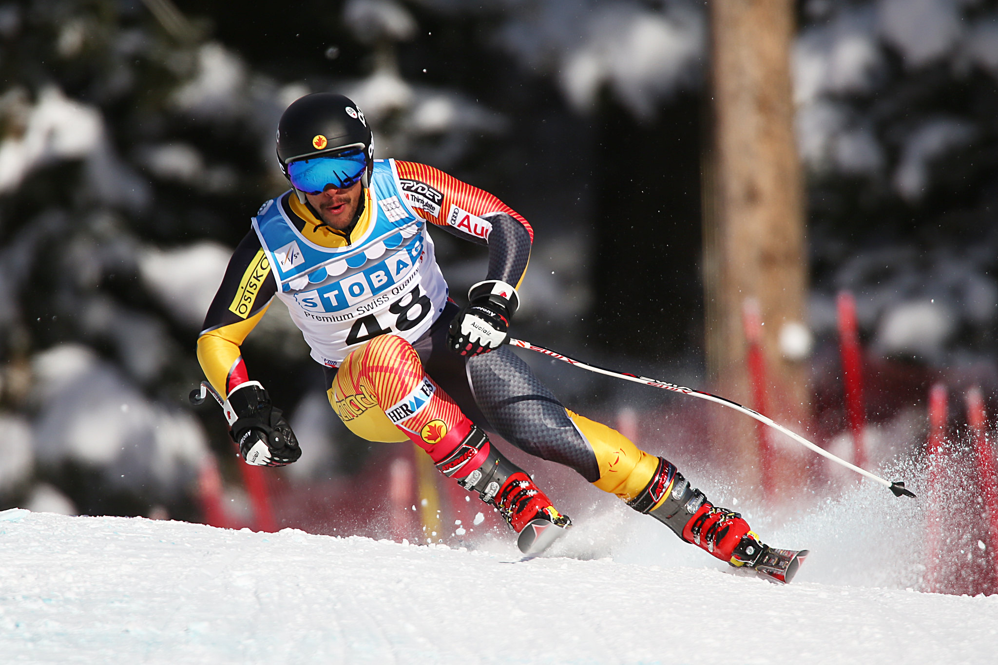Conrad Pridy during the second downhill training run in Lake Louise (Nov. 2012)
