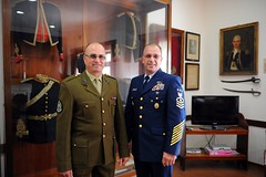 MCPOCG Leavitt meets with Armed Forces of Malta SGM Geoffrey Muscat