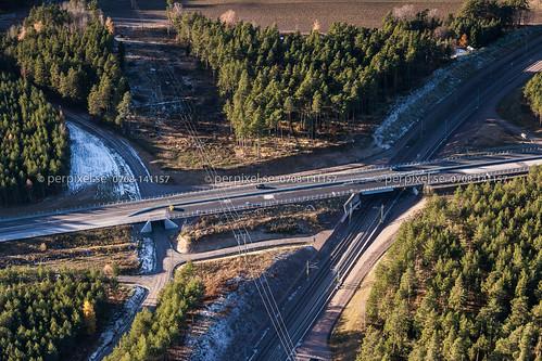 sverige östergötland swe mjölby flygfoto lycketorp väg50
