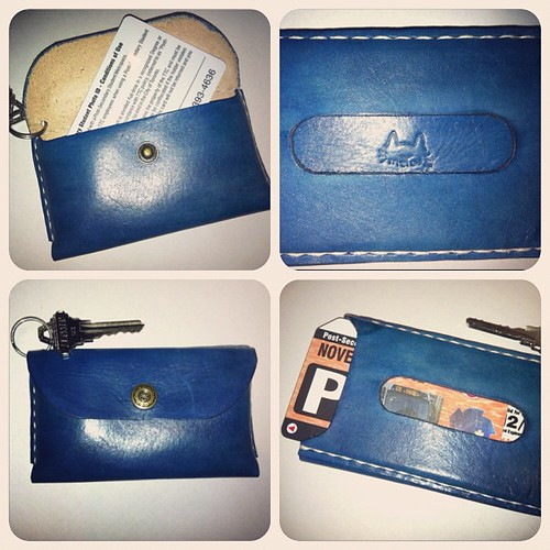 Yay! I needed this~ my first #ladderleather #handmade #leather card/coin purse~ (@meyaintoronto)