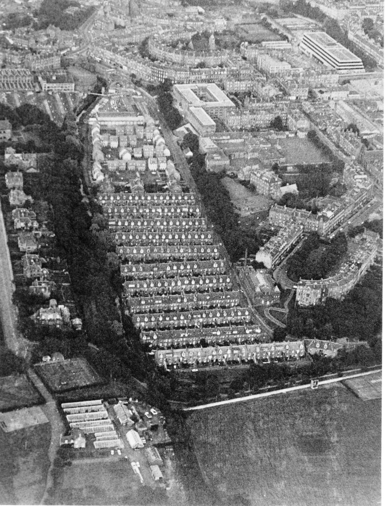 Stockbridge Colonies aerial 1984