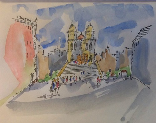 Made up church by Joe Mraz Watercolors