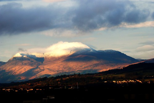 Snow-capped Ben Lomond, Scotland