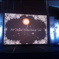 The Isla Ballroom of Edsa Shangri-la Hotel is ready for the 1st Philippine Wedding Industry Ball #philweddingindustryball