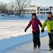Activité en couple l'hiver : Patinage au Manoir du lac William