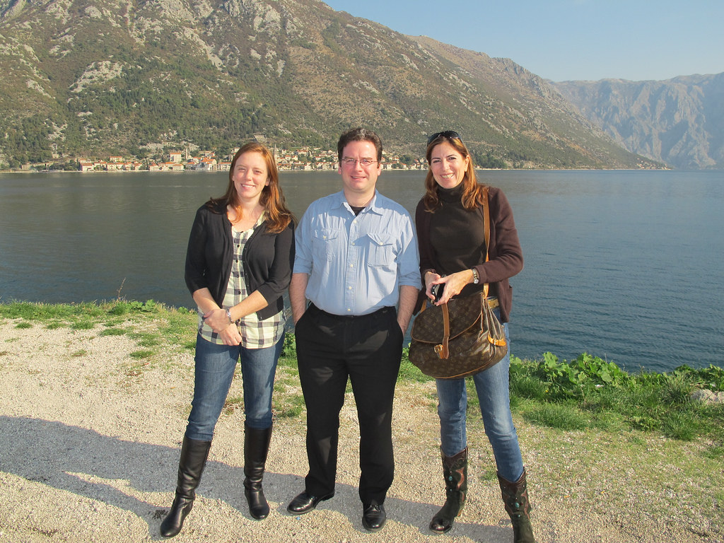 At the Bay of Kotor in Montenegro, with European Sales Manager Nick Abbott and Serbian operator Dragana Grozdanovic during a site inspection tour