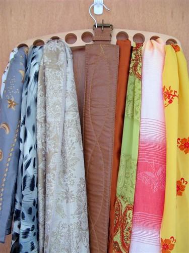 O cabide ideal para lenços e echarpes.