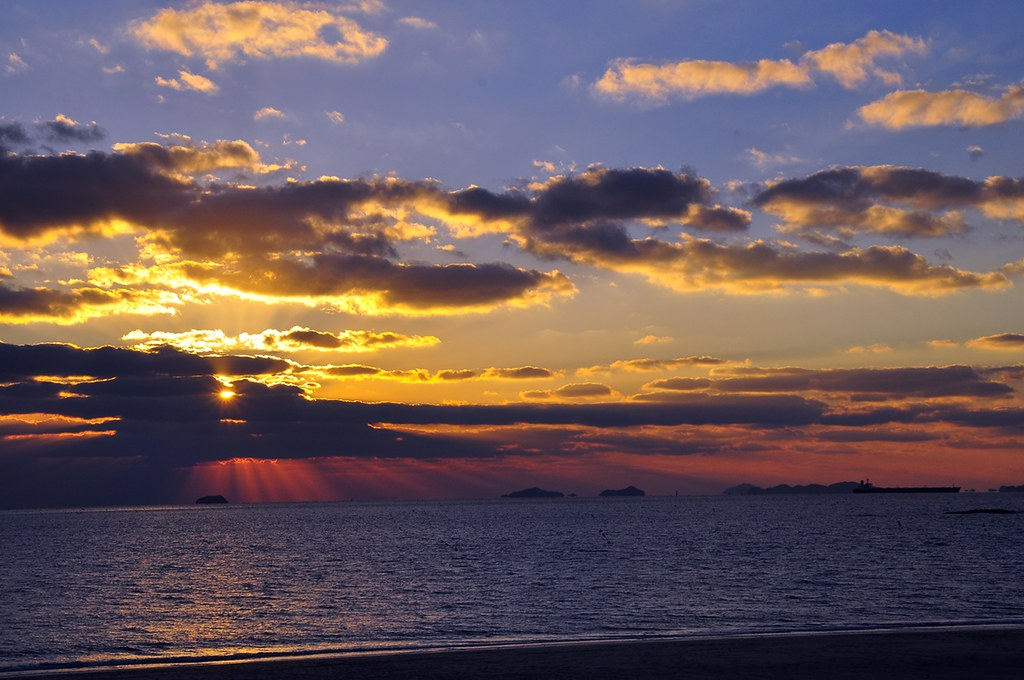 Sunset, Daecheon Beach, Korea...November 2012