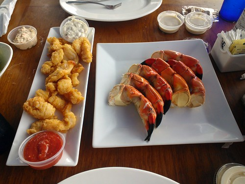 Stone Crab Claws and Fried Conch